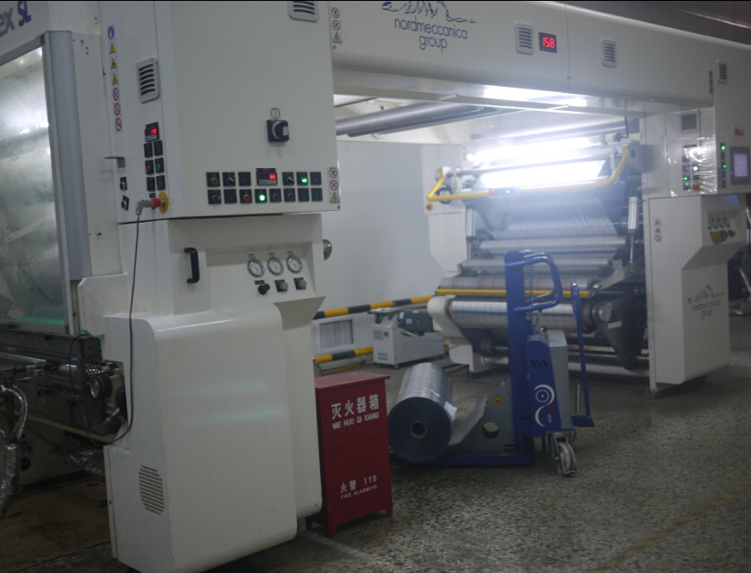 In May,2013, two set of  Italy nordmaccenica solventless  laminator was put into use.